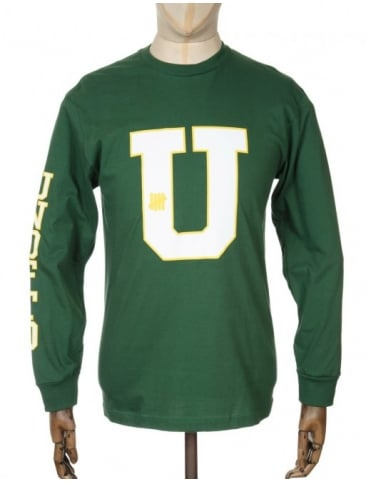 Undefeated L/S Striked U T-shirt - Green