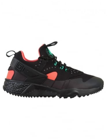 Nike Air Huarache Utility Premium Shoes - Black/Black-Bright Crimson