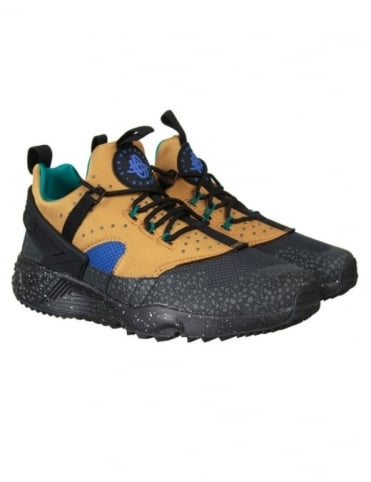 Nike Air Huarache Utility PRM Shoes - Bronze/Black-Racer Blue