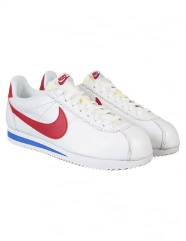 Nike Cortez Leather Shoes - White/Varsity Red