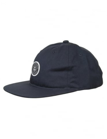 Obey Clothing Icon Five Panel Hat - Navy Blue