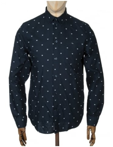Wood Wood L/S Timothy Shirt - AA Navy