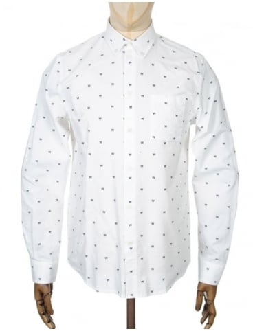 Wood Wood L/S Timothy Shirt - AA Box White