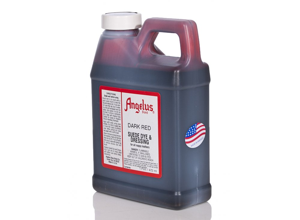 Angelus Dyes Paint Dark Red 1pt Suede Dye Leather Paint Dye From Iconsume Uk
