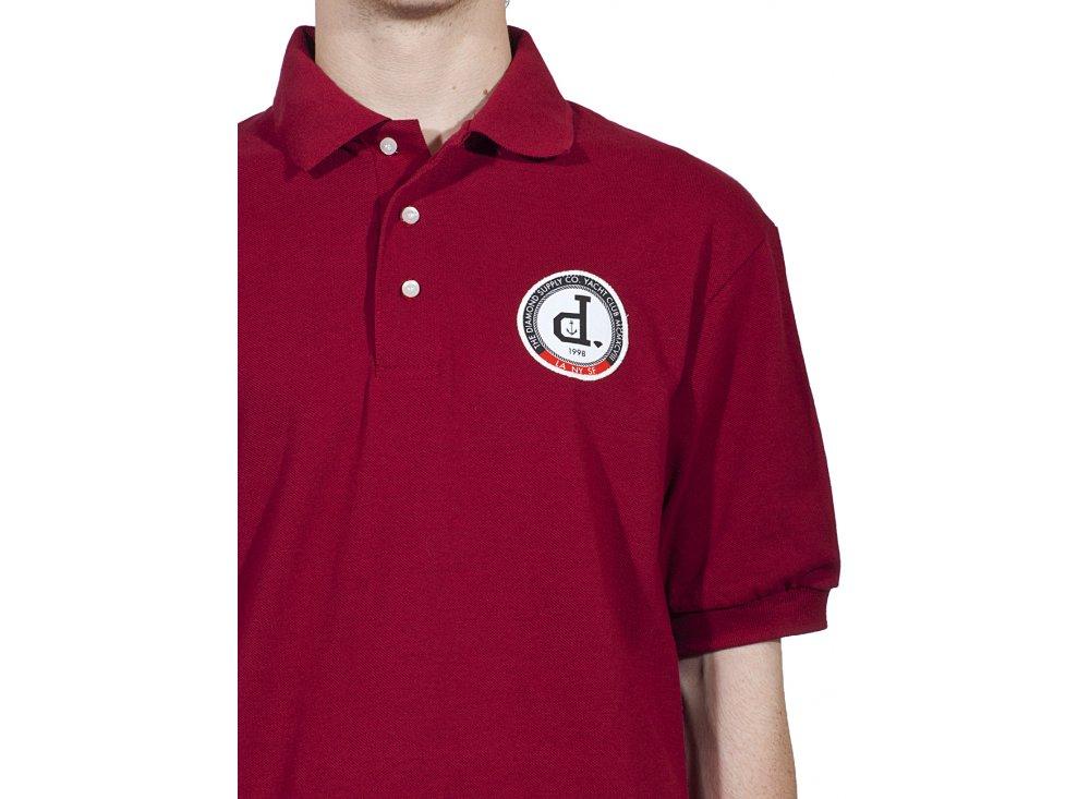 Diamond supply co un polo yacht club polo red polo for Diamond supply co polo shirts