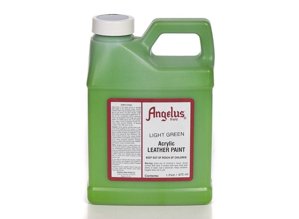 Angelus Dyes Paint Light Green 1pt Leather Paint Leather Paint Dye From Iconsume Uk