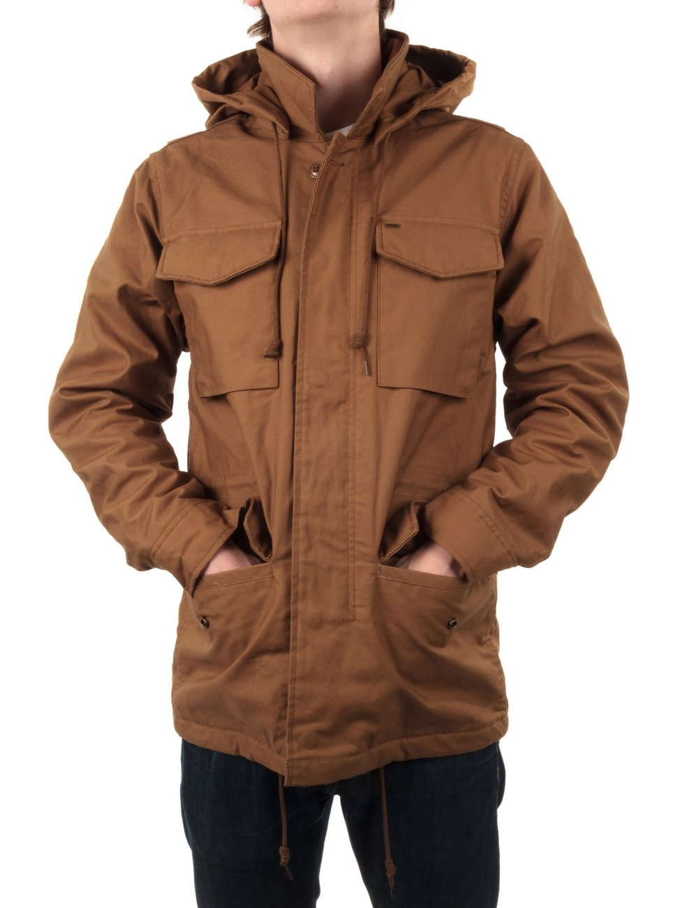 Obey brown leather jacket