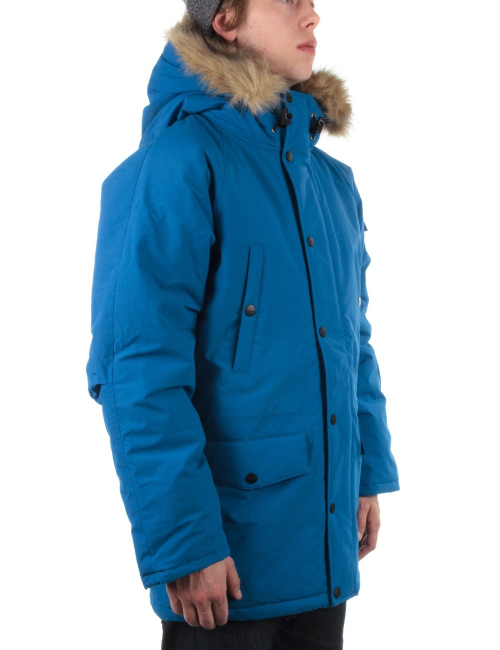 carhartt anchorage parka imperial blue broken white. Black Bedroom Furniture Sets. Home Design Ideas