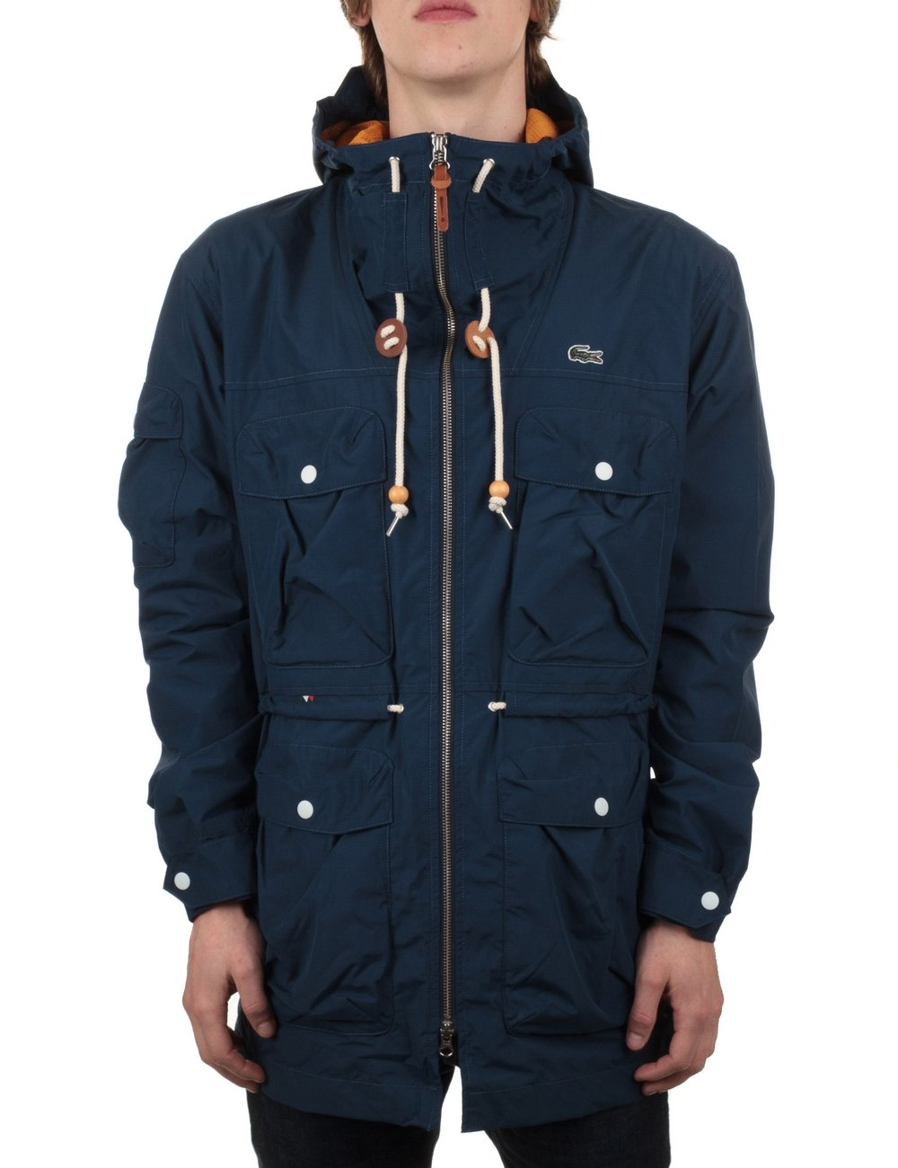 lacoste live hooded jacket ship blue jackets from iconsume uk. Black Bedroom Furniture Sets. Home Design Ideas