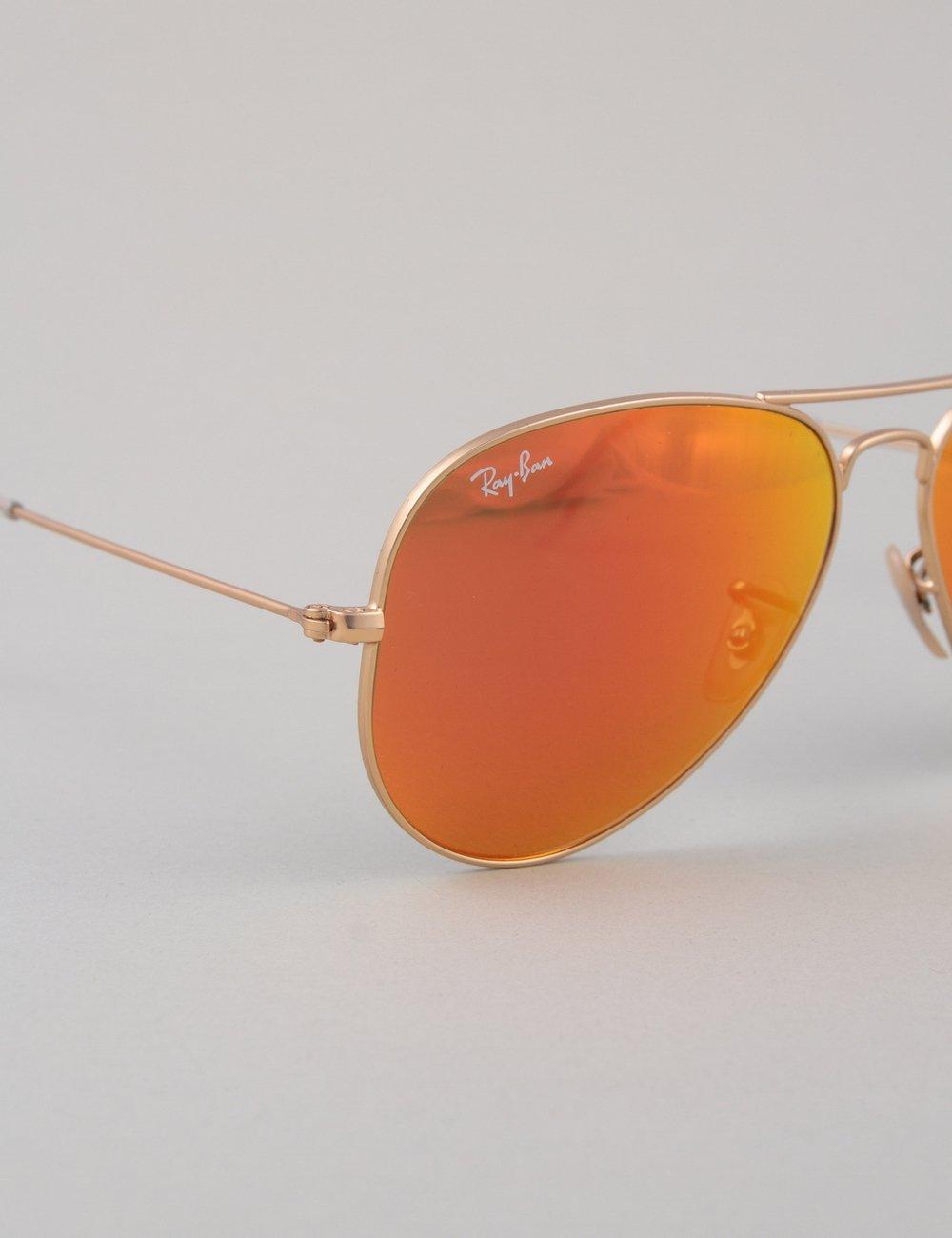 Ray-Ban Aviator Large Sunglasses - Matte Gold | Mirror