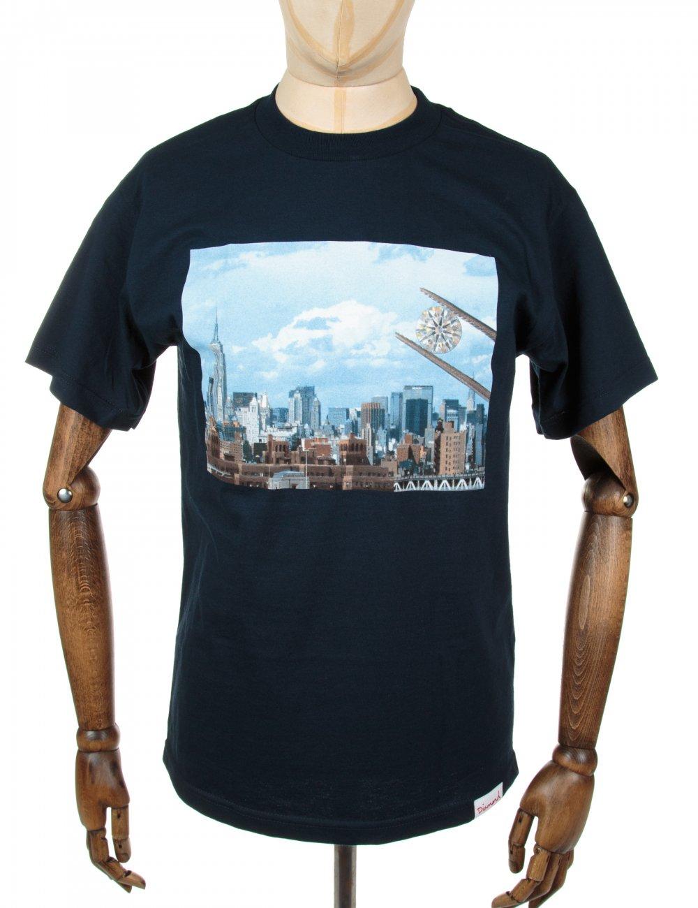 Diamond Supply Co NY Diamond Tee - Navy - T Shirts from ... - photo#39