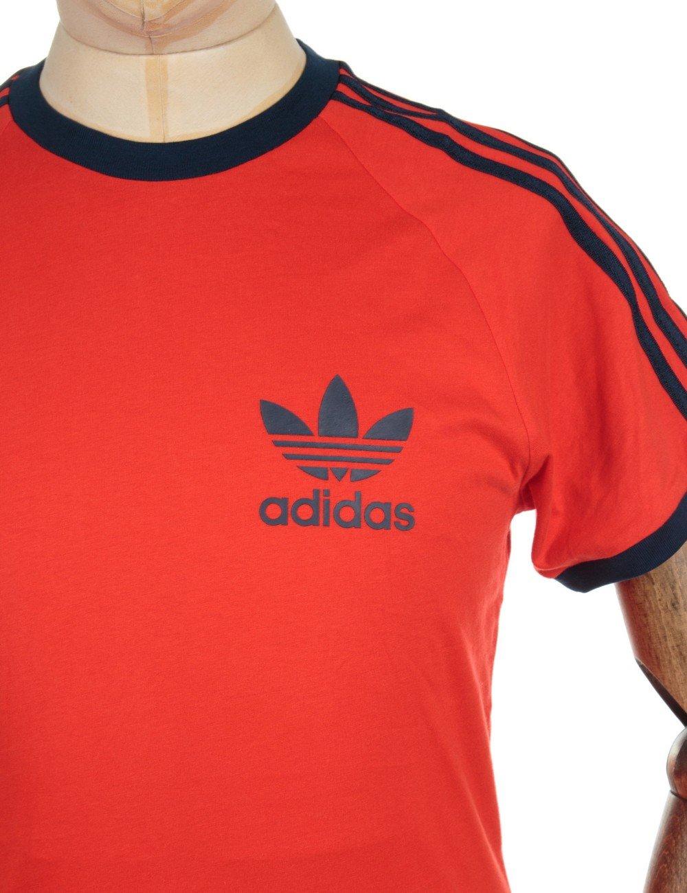 Adidas Originals Retro Trefoil Logo T Shirt Red T