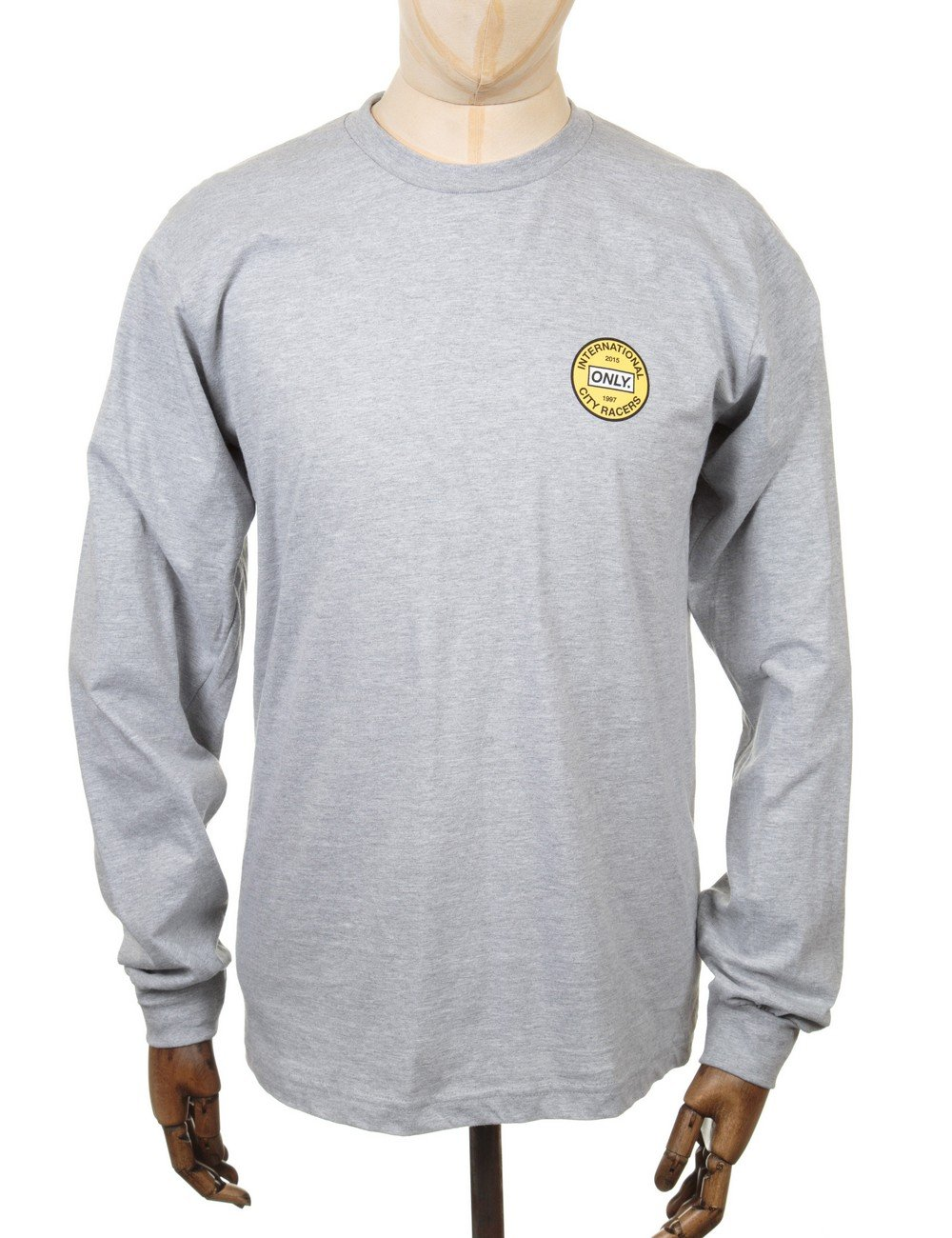 only ny clothing l s city racers t shirt grey