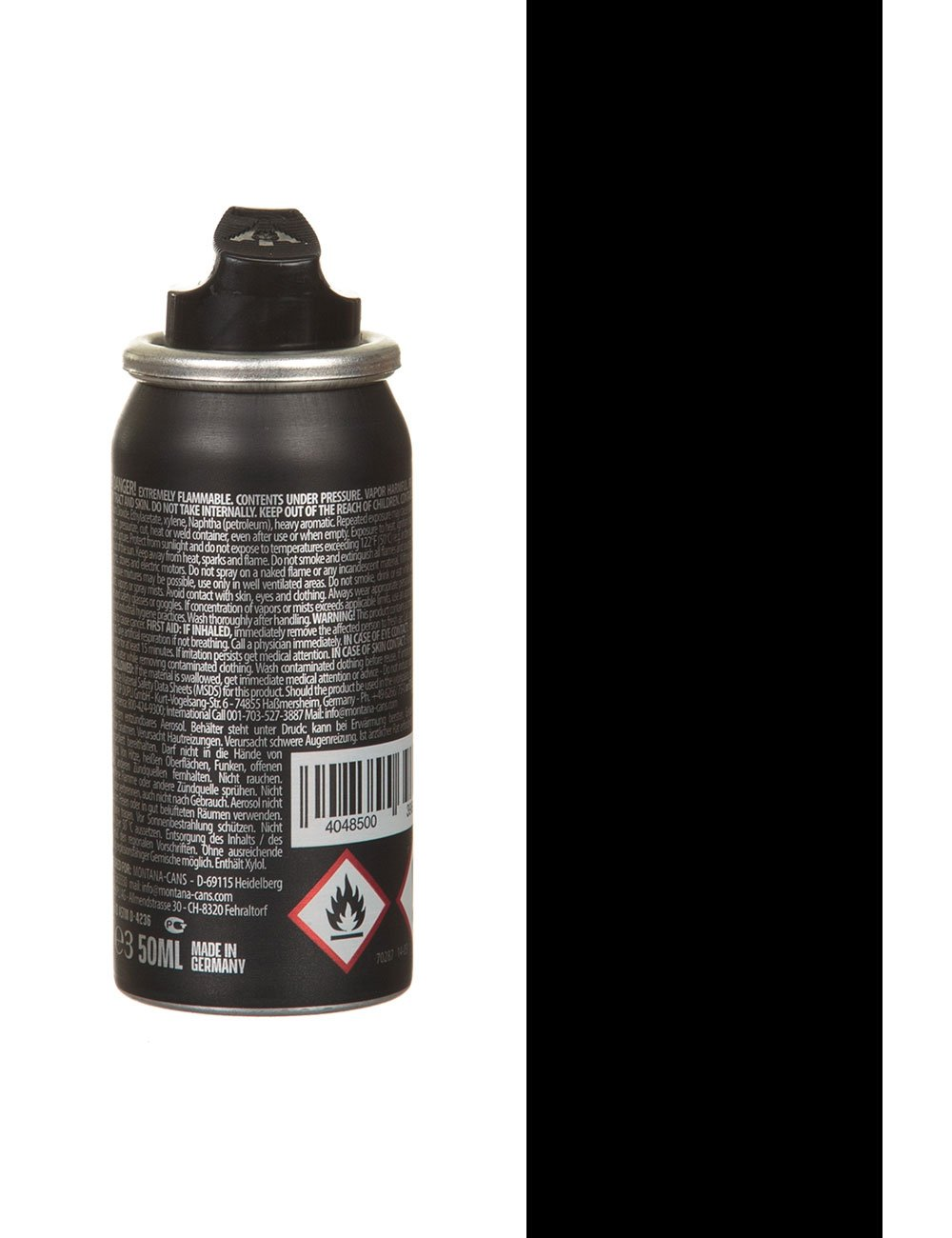 Montana Black Black Spray Paint 50ml Spray Paint Supplies From Iconsume Uk