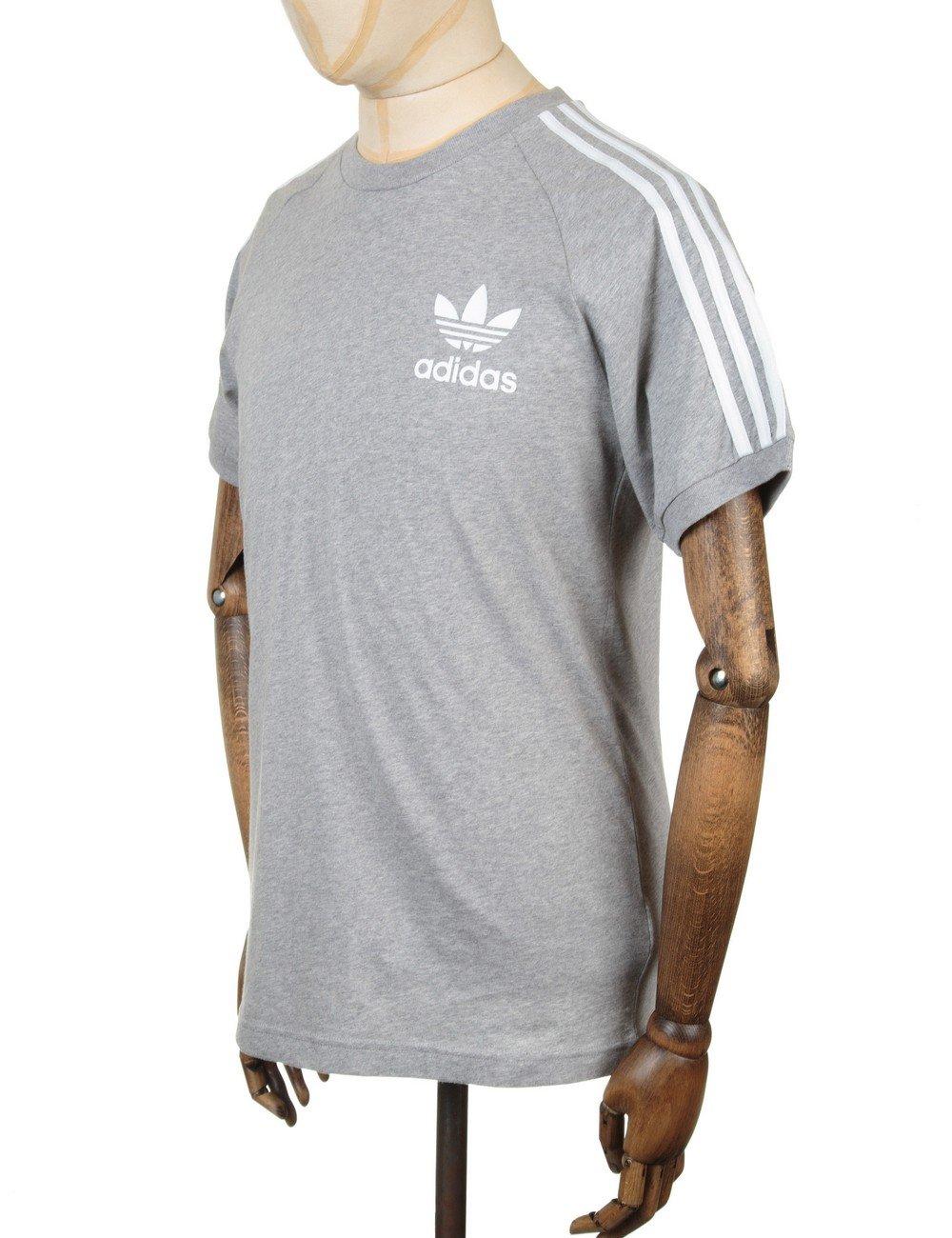 Adidas Originals Retro Trefoil Logo T Shirt Medium Grey