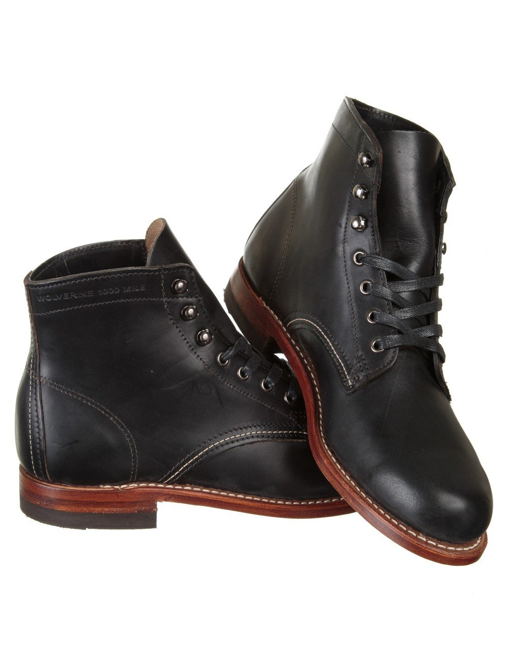 wolverine 1000 mile boot black casual shoes from