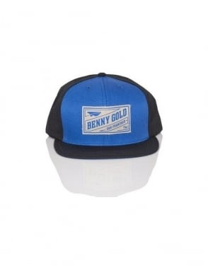 Benny Gold Stamp Snapback - Royal/Black
