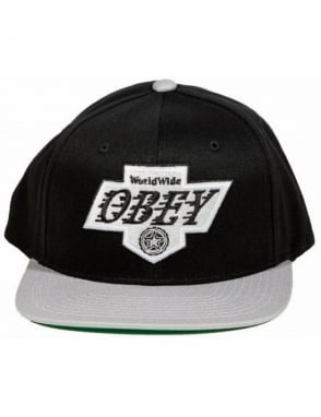 Obey Clothing The Great One Snapback - Black/Grey