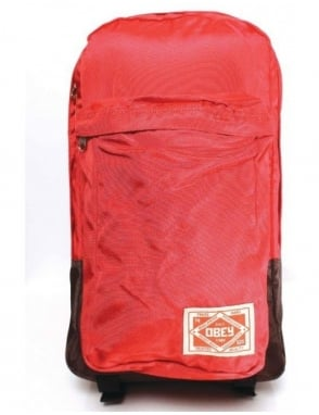Obey Clothing Commuter Pack - Red/Brown