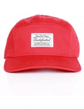 Undefeated B.N.M. Camp 5 Panel Hat - Red