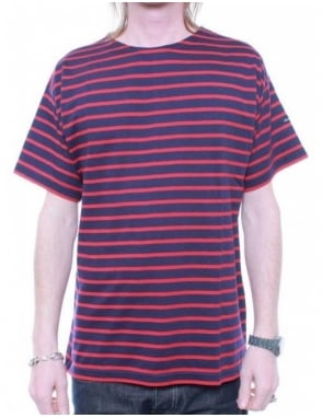 Armor-Lux Breton Stripe S/S 1527 - Navy/Red