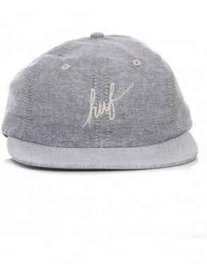 Huf Classic Script Chambray Hat - Light Grey