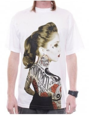 Rebel8 Clothing Vintage Rosalie Tee - White