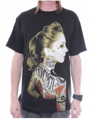 Rebel8 Clothing Vintage Rosalie Tee - Black