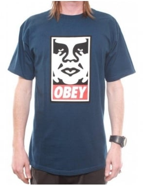 Obey Clothing Obey Icon Face Tee - Patrol Blue