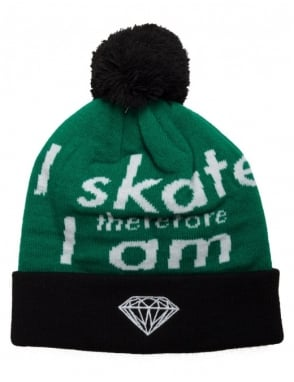 Diamond Supply Co I Am Fold Beanie - Black/Green