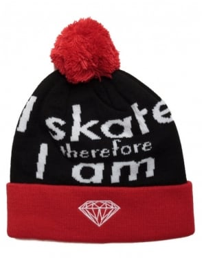 Diamond Supply Co I Am Fold Beanie - Red/Black