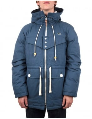 Lacoste Live Hooded Lined Parka - Ouessant Blue