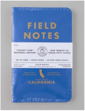 Field Notes County Fair Memo Books (3 Pack) - California