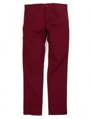 Carhartt Sid Pant - Cranberry