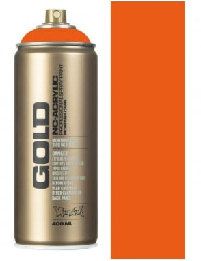 Montana Gold Shock Orange Spray Paint - 400ml