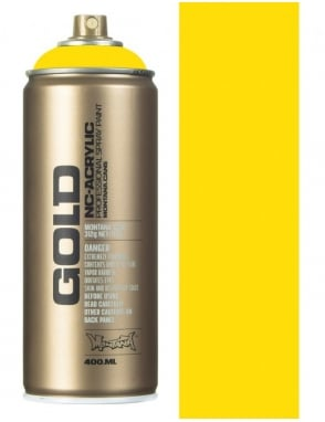 Montana Gold Shock Yellow Light Spray Paint - 400ml