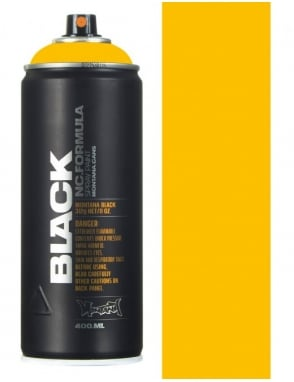 Montana Black Yellow Spray Paint - 400ml