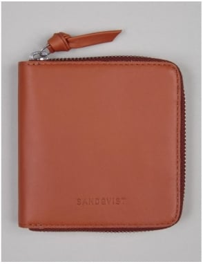 Sandqvist Aina Wallet - Cognac Brown
