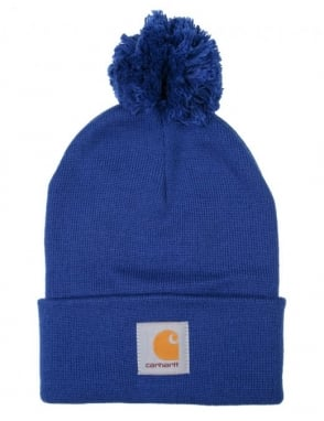 Carhartt Bobble Watch Hat - Wolfsbane Blue