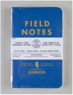 Field Notes County Fair Memo Books (3 Pack) - llinois