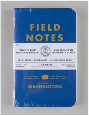 Field Notes County Fair Memo Books (3 Pack) - Washington