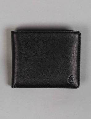 Nixon Satellite Big Bill Bi-Fold ID Coin Wallet - All Black