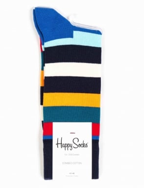 Happy Socks Stripe Socks - Blue/Orange